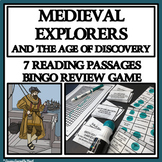 MEDIEVAL EXPLORERS AND THE AGE OF DISCOVERY - Reading Passages and Bingo