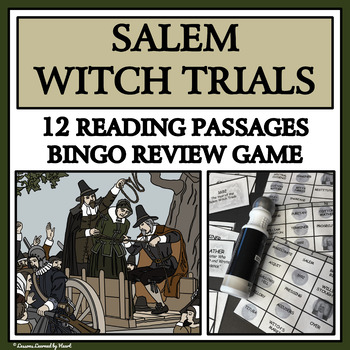 READING PASSAGES AND BINGO - Salem Witch Trials