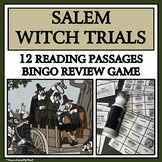 READING PASSAGES AND BINGO- Salem Witch Trials
