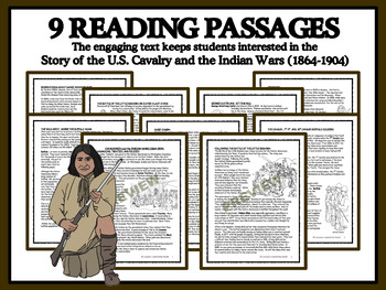 READING PASSAGES AND BINGO - Little Bighorn, Wounded Knee and the Cavalry