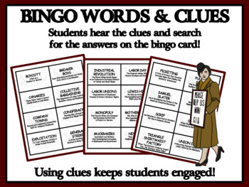 THE INDUSTRIAL REVOLUTION AND LABOR MOVEMENT: Reading Passages and Bingo