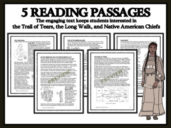 READING PASSAGES AND BINGO - Trail of Tears; The Long Walk