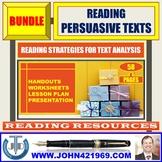 READING PERSUASIVE TEXTS BUNDLE