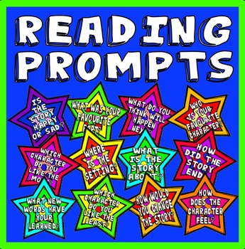 READING PROMPTS POSTERS -  ENGLISH LITERACY BOOKS STORY LIBRARY DISPLAY