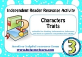 READING: READER RESPONSE - CHARACTER TRAITS 3