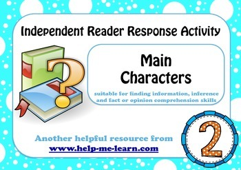 READING: READER RESPONSE - CHARACTERS 2