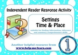 READING: READER RESPONSE - SETTINGS 1