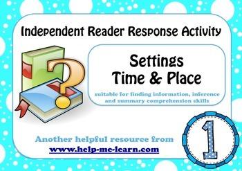READING: READER RESPONSE - SETTINGS 1