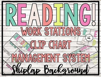 - SHIPLAP - READING! READERS! READ! Workstation Clip Chart Management System