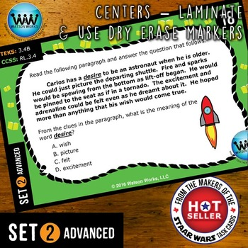READING READY 3rd Grade: Multiple-Meaning Words & Context Clues ~ ADVANCED SET 2