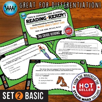 READING READY 3rd Grade: Multiple-Meaning Words & Context Clues ~ BASIC SET 2