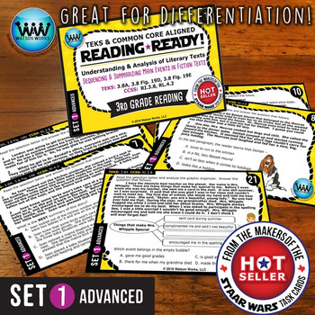 READING READY 3rd Grade – Sequencing & Summarizing Main Events ~ ADVANCED SET 2