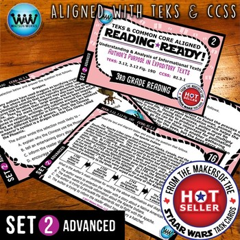 READING READY 3rd Grade Task Cards – Author's Purpose ~ ADVANCED SET 2