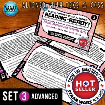 READING READY 3rd Grade Task Cards – Drawing Conclusions ~ ADVANCED SET 3