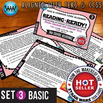 READING READY 3rd Grade Task Cards – Drawing Conclusions ~ BASIC SET 3