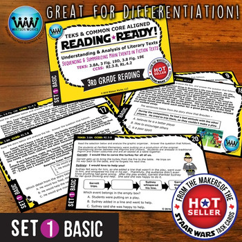 READING READY 3rd Grade Task Cards: Sequencing & Summarizing Main Events~BASIC 1