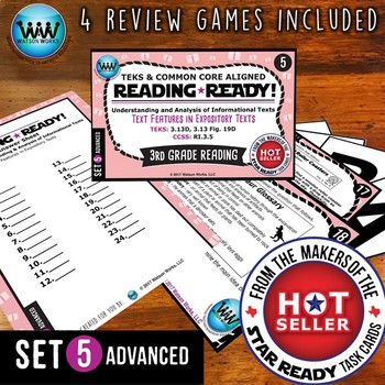READING READY 3rd Grade Task Cards: Text Features in Expository Texts~ADVANCED 1