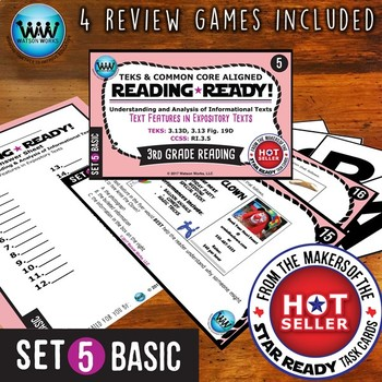 READING READY 3rd Grade Task Cards – Text Features in Expository Texts ~ BASIC 5