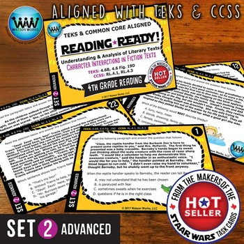 READING READY 4th Grade – Character Interactions in Fiction Texts ~ ADVANCED 2