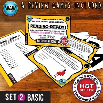 READING READY 4th Grade – Character Interactions in Fiction Texts ~ BASIC SET 2