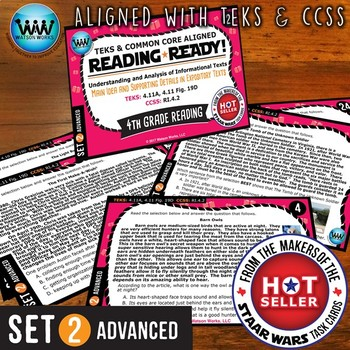 READING READY 4th Grade – Main Idea & Supporting Details ~ ADVANCED SET 2