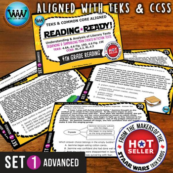 READING READY 4th Grade – Sequencing & Summarizing Main Events ~ ADVANCED SET 1