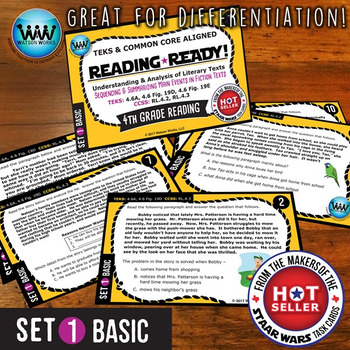 READING READY 4th Grade – Sequencing & Summarizing Main Events ~ BASIC SET 1