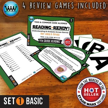 READING READY 4th Grade Task Cards - Root Words & Affixes