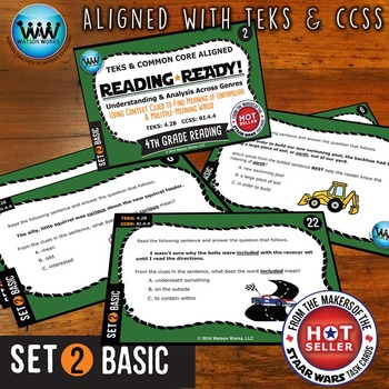 READING READY 4th Grade Task Cards - Using Context Clues ~ BASIC SET 2