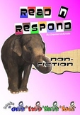 READING RESPONSE: Generic Non-Fiction Booklets 1, 2, 3, and 4