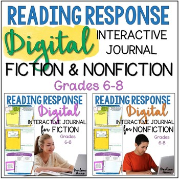 READING RESPONSE JOURNALS DIGITAL & PRINT FICTION & NONFICTION MIDDLE SCHOOL ELA