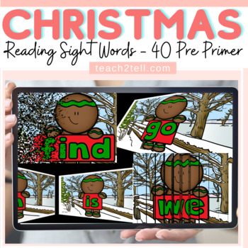 READING DOLCH SIGHT WORDS: PRE-PRIMER: CHRISTMAS/WINTER THEMED: SLIDESHOW