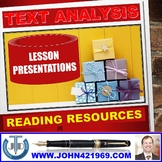 READING FOR TEXT ANALYSIS LESSON PRESENTATIONS BUNDLE