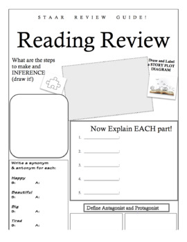 READING STAAR REVIEW GUIDE For MIDDLE SCHOOL
