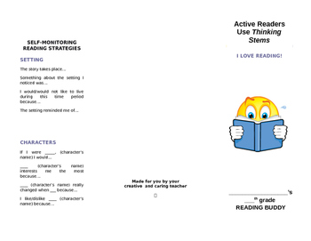 READING STEMS BROCHURE FOR METACOGNITIVE CLOSE READING