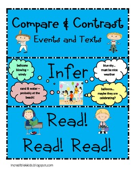 READING STRATEGIES BOARDS - with visuals