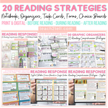 READING STRATEGIES: TASK CARDS AND FOLDABLES