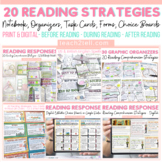 READING STRATEGIES BUNDLE: INB TEMPLATES: GRAPHIC ORGANIZERS: TASK CARDS