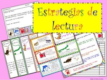 READING STRATEGIES SPANISH TRACKER POSTERS BOOKMARKS ESTRATEGIAS LECTURA