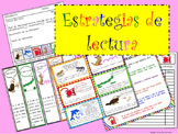 READING STRATEGIES SPANISH TRACKER POSTERS BOOKMARKS ESTRA