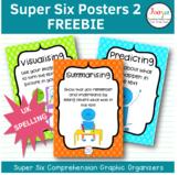 Super Six Comprehension Strategies Posters- UK spelling