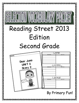 READING STREET (2013 EDITION) - UNIT 3 - SELECTION WORD PA