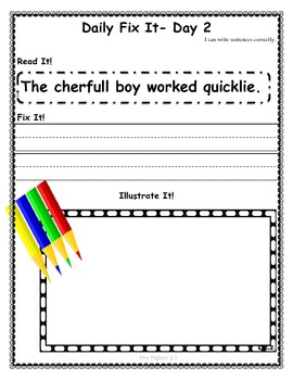 DAILY FIX-IT: UNIT 5- READING STREET (2013 Edition) - Second Grade