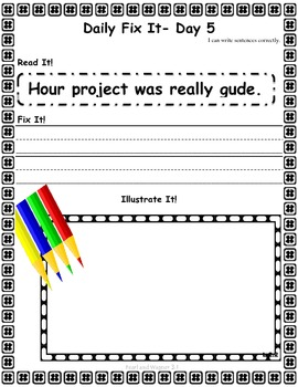 DAILY FIX-IT: UNIT 3- READING STREET (2013 Edition) - Second Grade