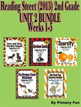 READING STREET (2013 Edition)- Second Grade UNIT 2  BUNDLE