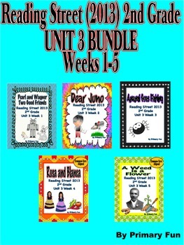READING STREET (2013 Edition)- Second Grade UNIT 3  BUNDLE