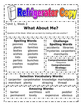 READING STREET (2013 Edition) - THIRD Grade - Refrigerator Copy