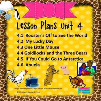 READING STREET KINDERGARTEN 2013 Common Core LESSON PLANS FOR UNIT 4 (4.1-4.6)