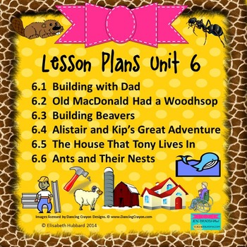 READING STREET KINDERGARTEN 2013 Common Core LESSON PLANS FOR UNIT 6 (6.1-6.6)