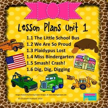READING STREET KINDERGARTEN 2013 Common Core LESSON PLANS FOR UNIT 1 (1.1-1.6)